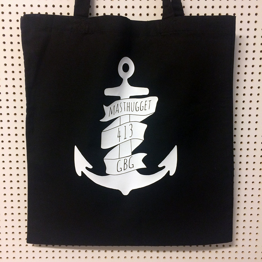 Tote bags webshop Masthugget anchor black