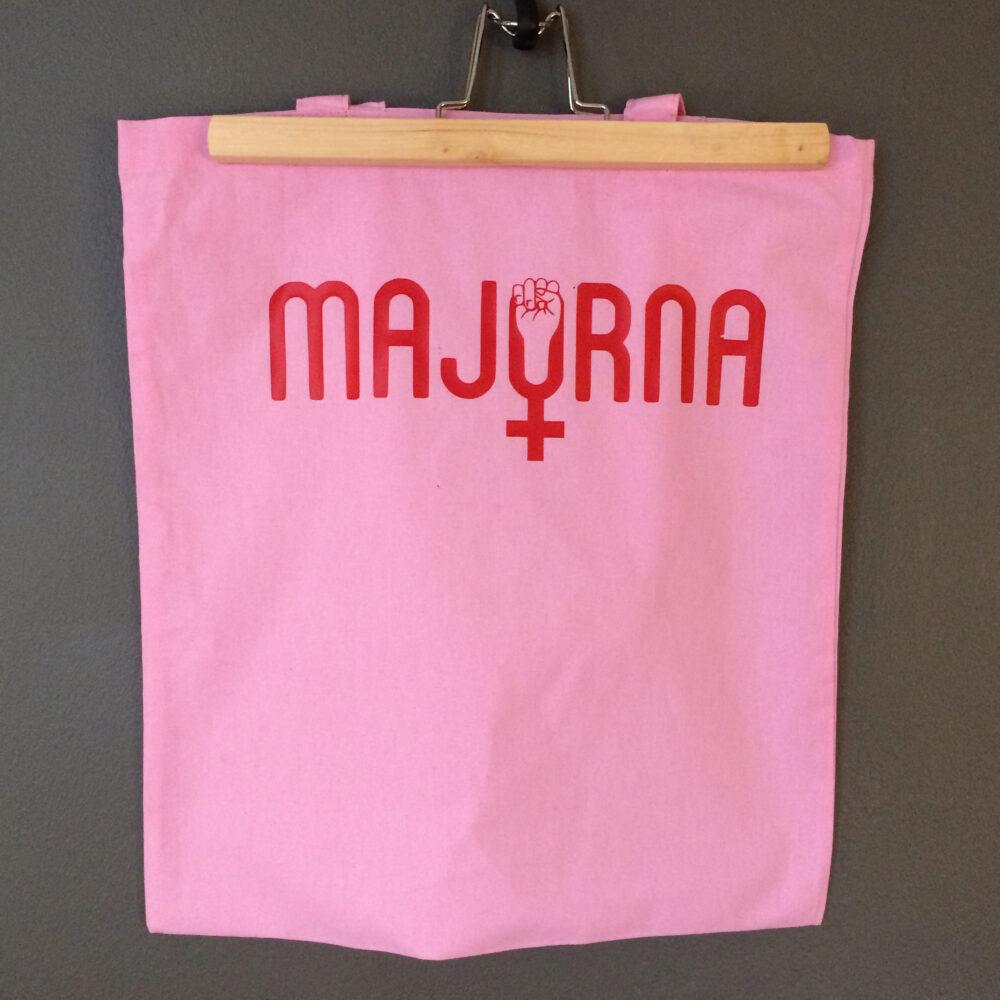Tote bag Majorna feminism pink