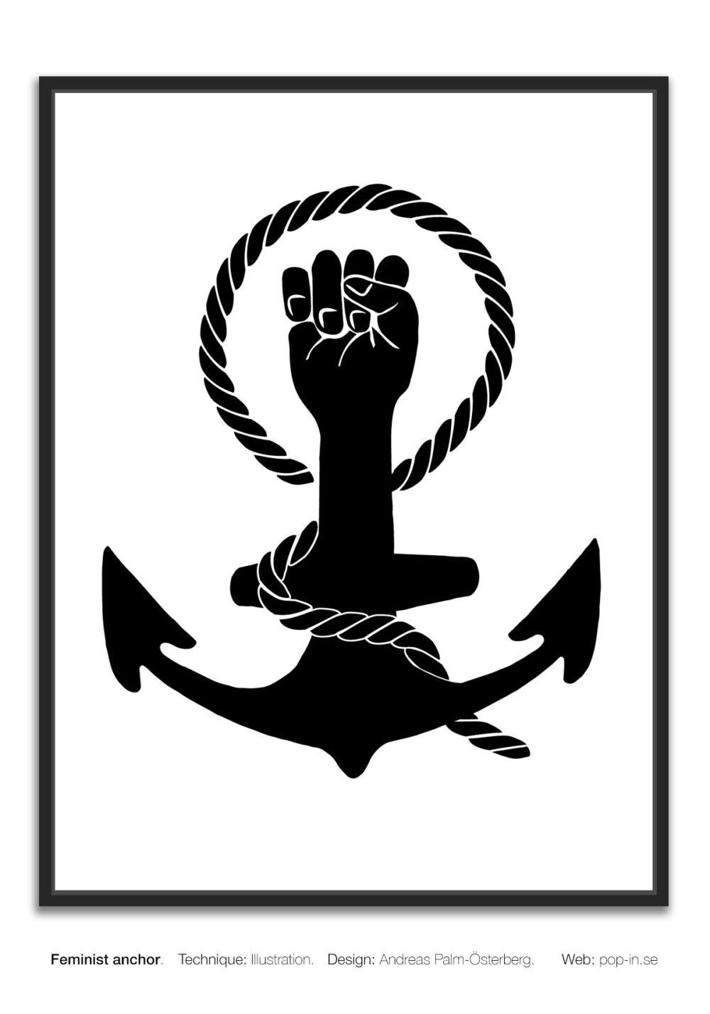 Feminist anchor framed