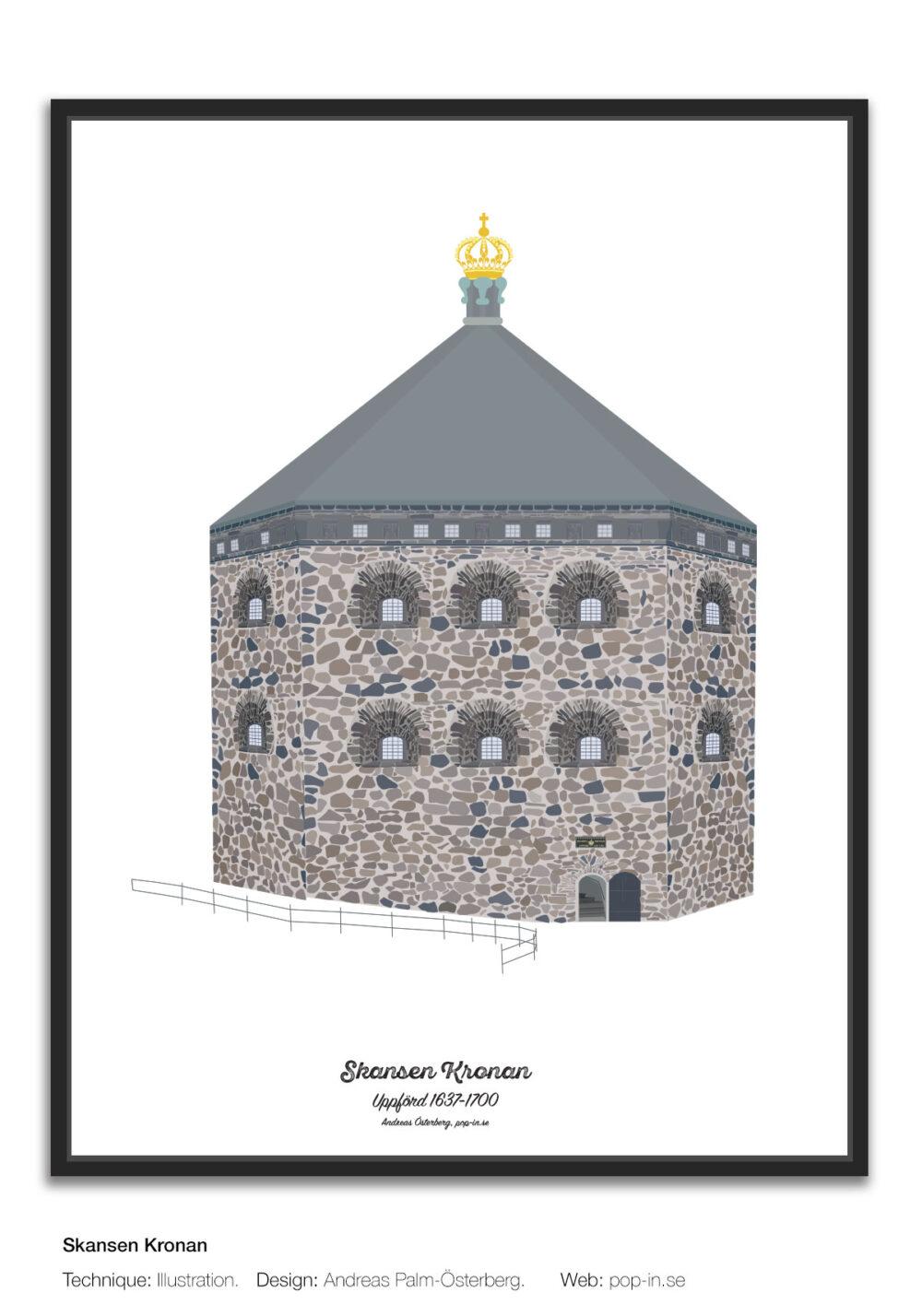 Skansen Kronan alone framed