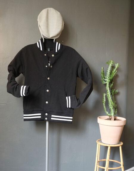 Pop-in Baseball jacket Black