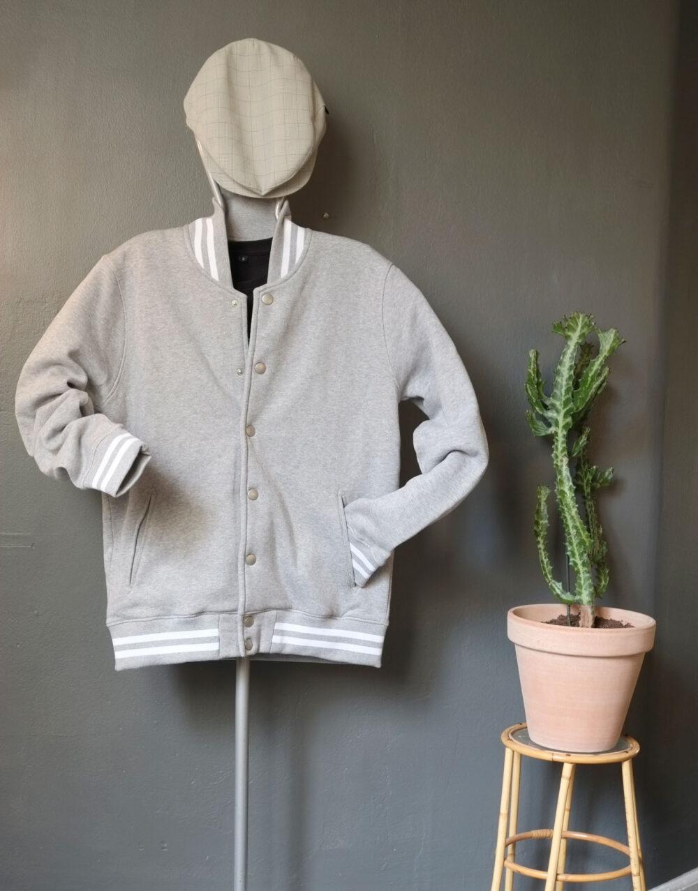 Pop-in Baseball jacket Grey
