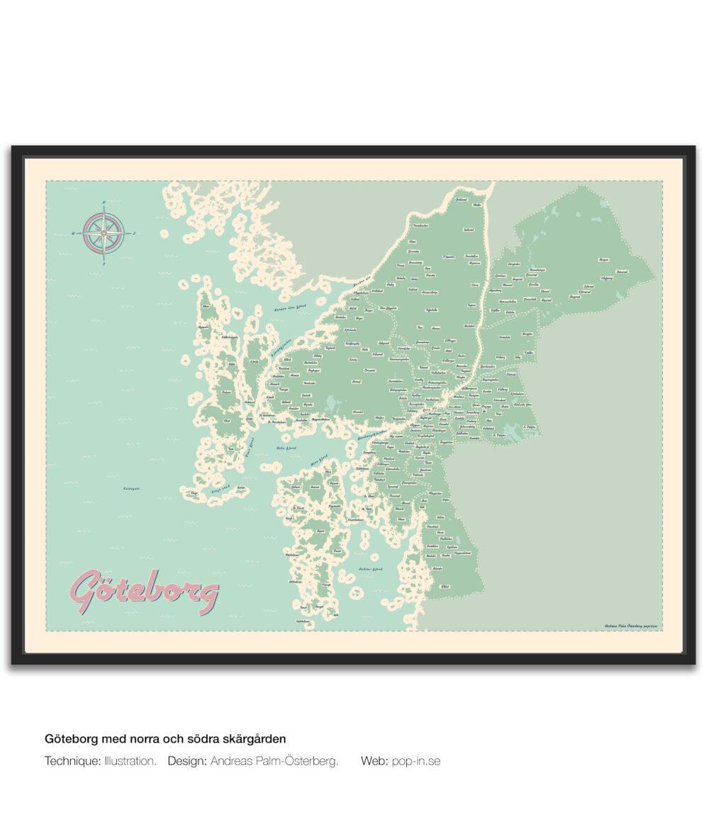 Göteborg med norra och södra skärgården