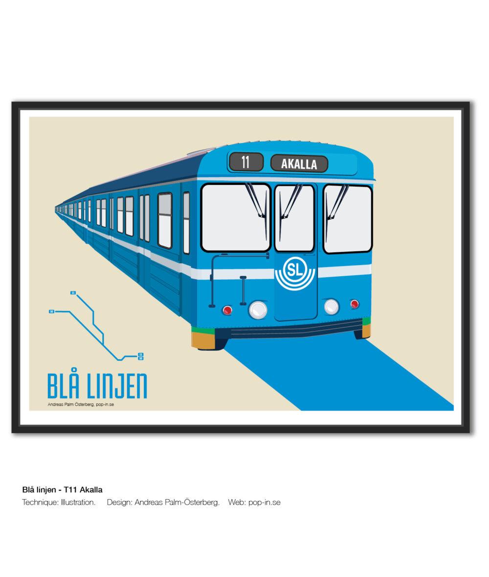 Blå linjen T11 Akalla