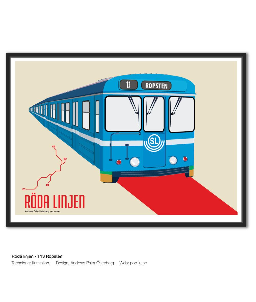 Röda linjen T13 Ropsten