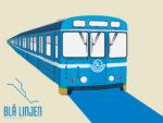 STHLM T-bana Blå linjen