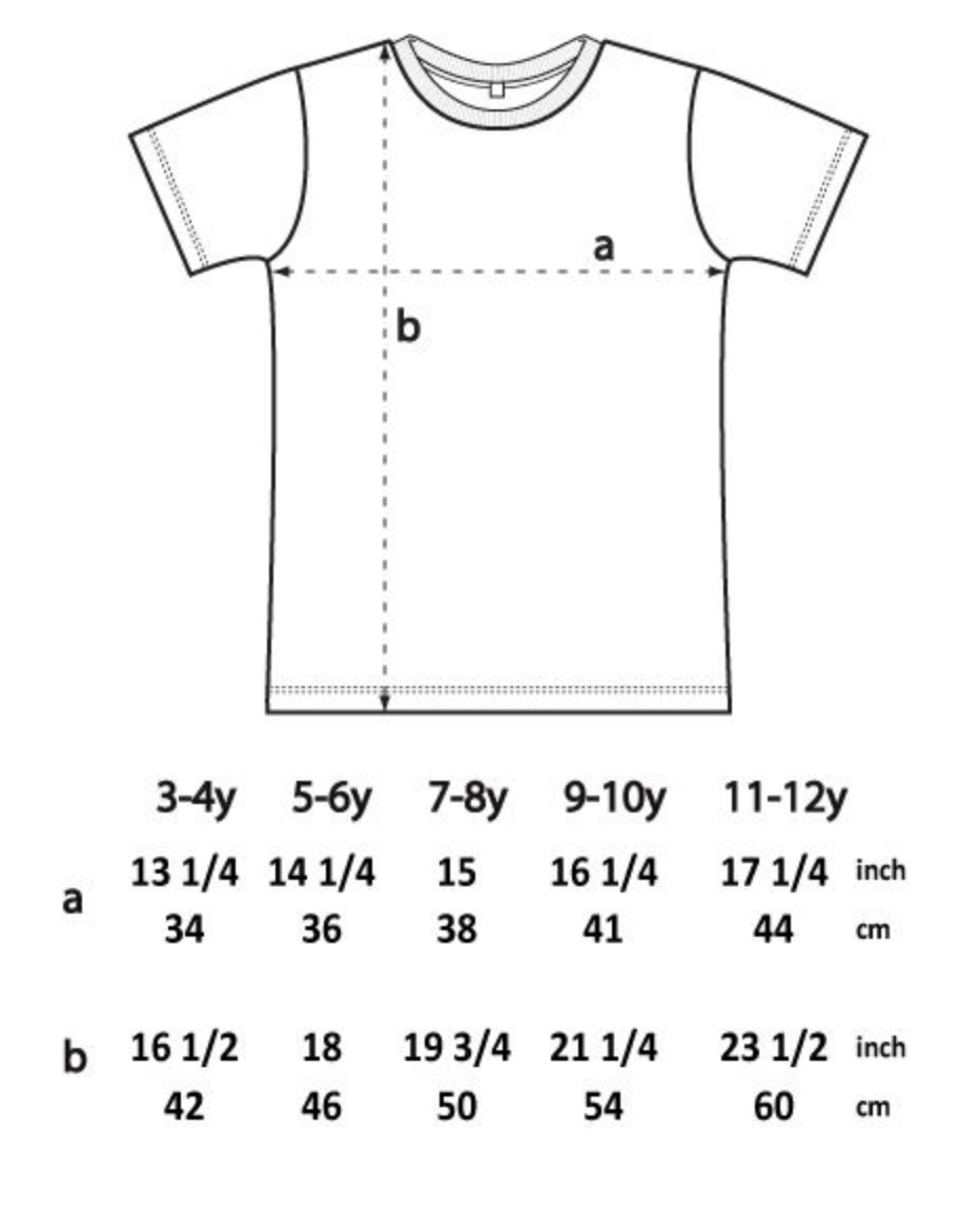 Storleksguide barntröjor